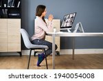 business video call dressed in... | Shutterstock . vector #1940054008