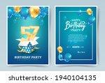 57th years birthday vector...   Shutterstock .eps vector #1940104135