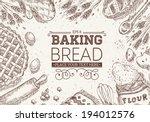 baking bread frame | Shutterstock .eps vector #194012576