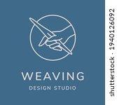 Weaving Vector Logo Design....