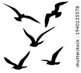 set of vector silhouettes of... | Shutterstock .eps vector #1940135578