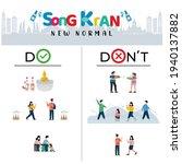 do and don't in songkran... | Shutterstock .eps vector #1940137882