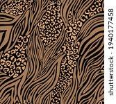 zebra and leopard skin. vector... | Shutterstock .eps vector #1940177458