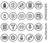 simple icon set user interface  ...