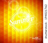 vector background on a summer... | Shutterstock .eps vector #194021762