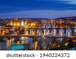 Night Prague. Panoramic View Of ...