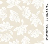 brown taupe floral botanical... | Shutterstock .eps vector #1940255752