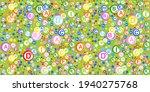 seamless pattern. multi vitamin ... | Shutterstock .eps vector #1940275768
