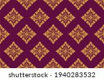 geometric indonesian batik... | Shutterstock .eps vector #1940283532