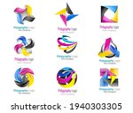 set colorful abstract 3d icons...   Shutterstock .eps vector #1940303305