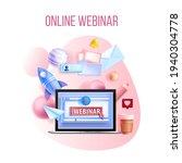 online webinar  digital vector...   Shutterstock .eps vector #1940304778