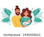 happy family with newborn baby. ...   Shutterstock .eps vector #1940320012