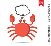 crab with thought bubble...