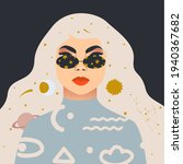 beautiful blond woman. woman ...   Shutterstock .eps vector #1940367682
