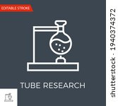 tube research thin line vector... | Shutterstock .eps vector #1940374372