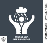 stress and life problems glyph... | Shutterstock .eps vector #1940374438