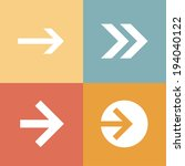 arrow sign icon set  raster...