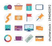 modern flat icons collection ...