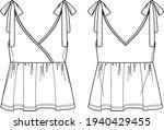 vector sleeveless top with... | Shutterstock .eps vector #1940429455