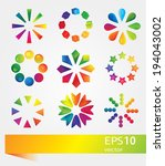 set of vector colorful icons | Shutterstock .eps vector #194043002