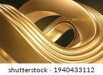 golden wave. curvy gold shape....   Shutterstock .eps vector #1940433112