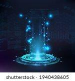 magic portal  hologram  circle... | Shutterstock .eps vector #1940438605