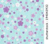 vector seamless cute flower... | Shutterstock .eps vector #194043932