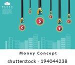 money concept design and... | Shutterstock .eps vector #194044238