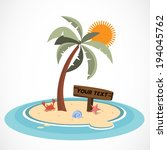 mini island and coconut tree  ... | Shutterstock .eps vector #194045762