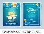 56th years birthday vector...   Shutterstock .eps vector #1940482738