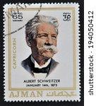 ajman   circa 1970  a stamp... | Shutterstock . vector #194050412