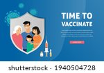 asian family vaccination... | Shutterstock .eps vector #1940504728
