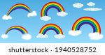 set of realistic rainbow or... | Shutterstock .eps vector #1940528752