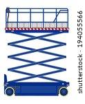 self propelled scissor lift... | Shutterstock .eps vector #194055566