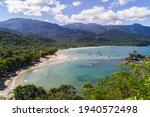 view of the beach of Castilians Ilhabela