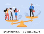 gender inequality concept.... | Shutterstock .eps vector #1940605675