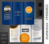 blue vector brochure template... | Shutterstock .eps vector #194060822