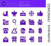 sell your business icon set. 20 ...