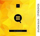 abstract vector yellow... | Shutterstock .eps vector #194063426
