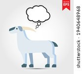 goat with thought bubble...
