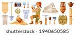 Archaeologist Cartoon Vector....