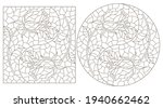 set of contour illustrations in ... | Shutterstock .eps vector #1940662462