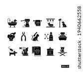 pet salon icon set. pet... | Shutterstock .eps vector #1940662558