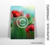 vector card template.  | Shutterstock .eps vector #194066852