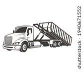 illustration of roll off truck... | Shutterstock .eps vector #1940671552