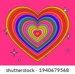 hypnotic heart shaped tunnel....   Shutterstock .eps vector #1940679568
