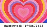 hypnotic heart shaped tunnel.... | Shutterstock .eps vector #1940679685