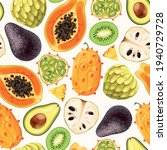 seamless vector pattern with... | Shutterstock .eps vector #1940729728