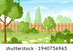 backyard. vector illustration... | Shutterstock .eps vector #1940756965