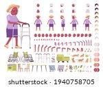 old black woman  elderly person ... | Shutterstock .eps vector #1940758705